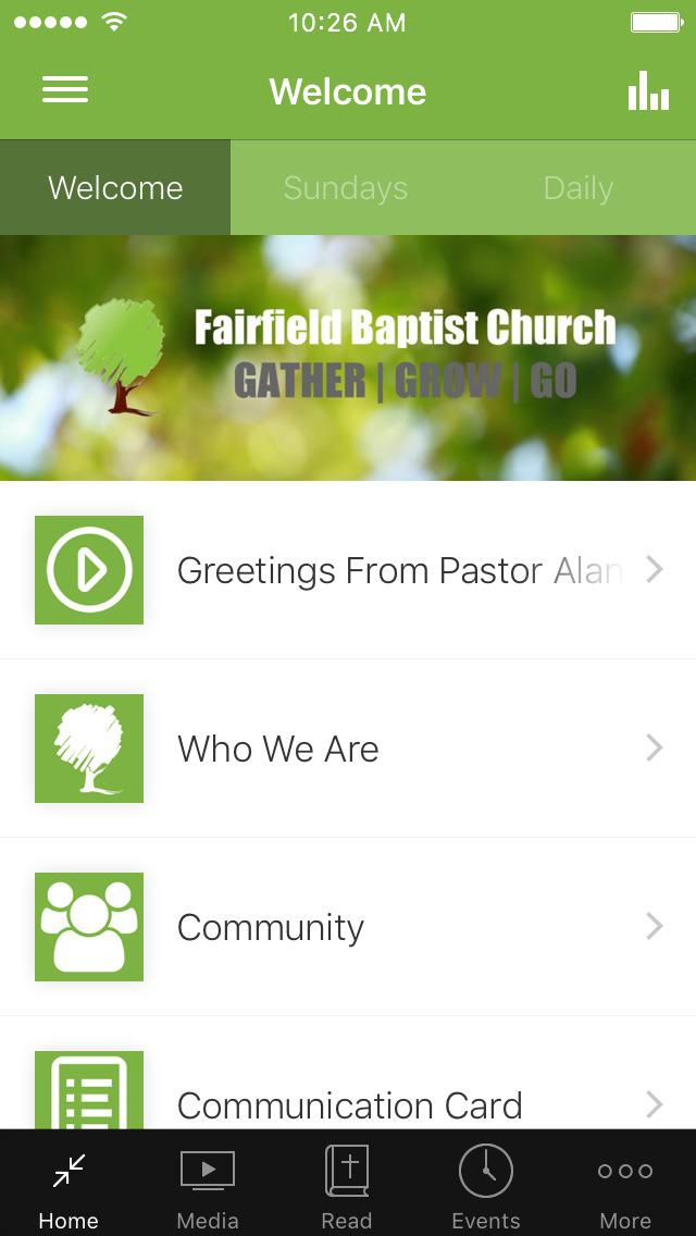 Fairfield Baptist Church screenshot 1