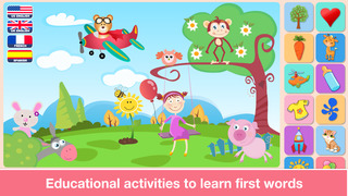 Baby First Words. Matching Educational Puzzle Games for Toddlers and Preschool Kids by Abby Monkey® Learning Clubhouse screenshot 2