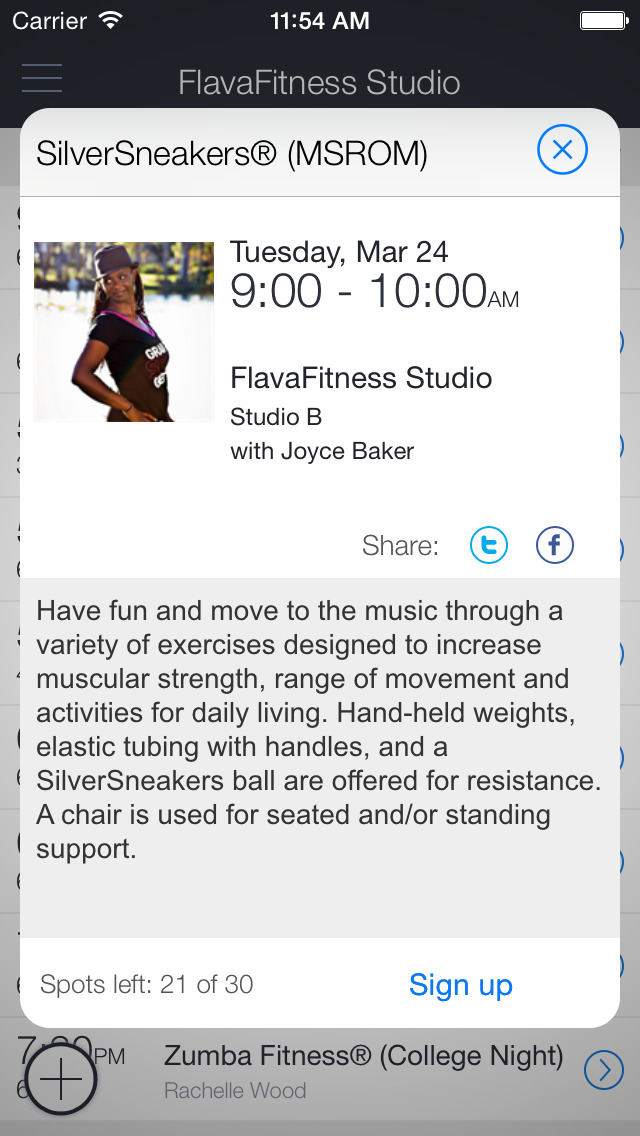 FlavaFitness Studio Mobile screenshot 2