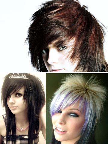 Emo Hair Art Designs, Men & Women Hairstyles Pics screenshot 10