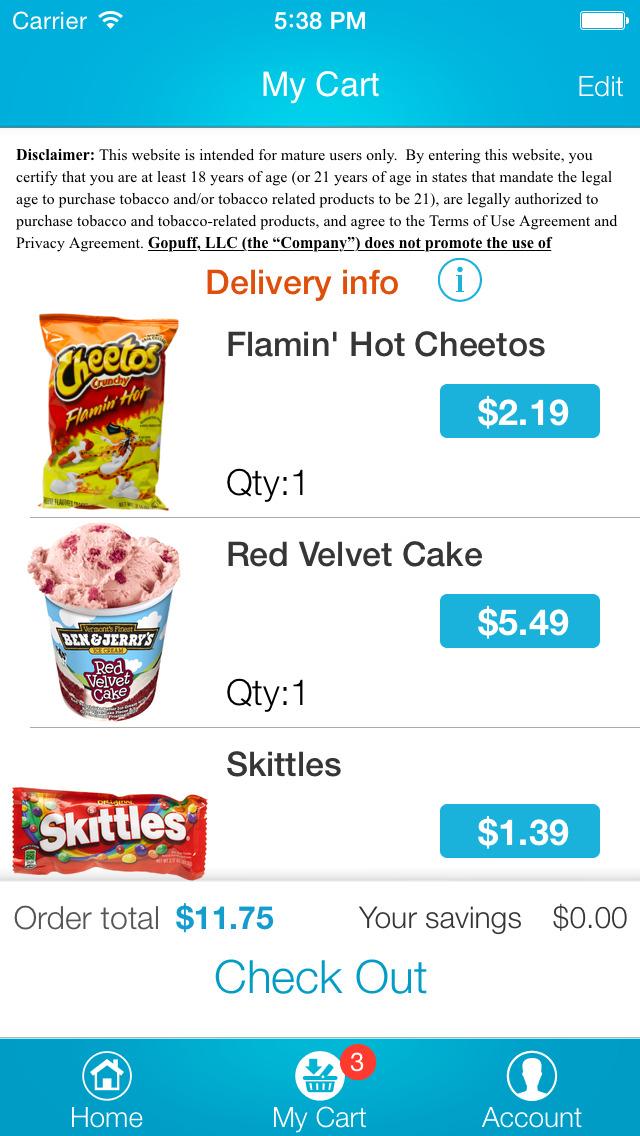 goPuff: Drink & Food Delivery screenshot 4