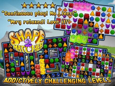 Shape Matcher 2 - Best Diamond Match-3 Scramble screenshot 5