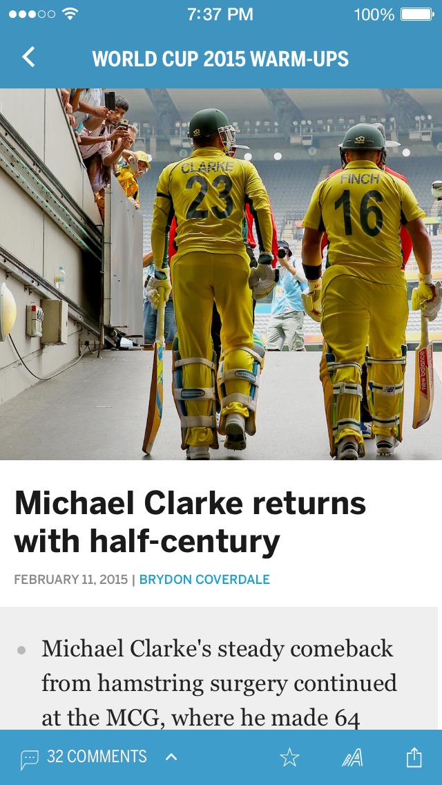Cricinfo - Live Cricket Scores screenshot 2