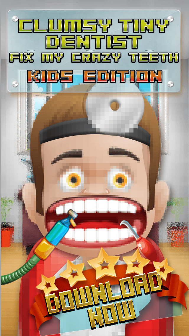 Aaah! Clumsy Tiny Dentist Fix My Crazy Teeth! - PRO Kids Edition screenshot 1