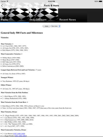 Indy 500 Racing News screenshot 10
