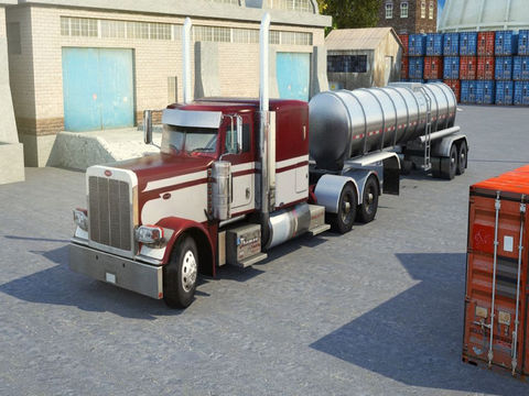 3D Semi Truck Parking PRO - Full Trucker Driving School Simulation Version screenshot 5
