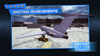 3D Plane and Bus Simulator PRO - Airplane & Car Parking, Driving and Racing - Training Game on Real City Airport screenshot 5