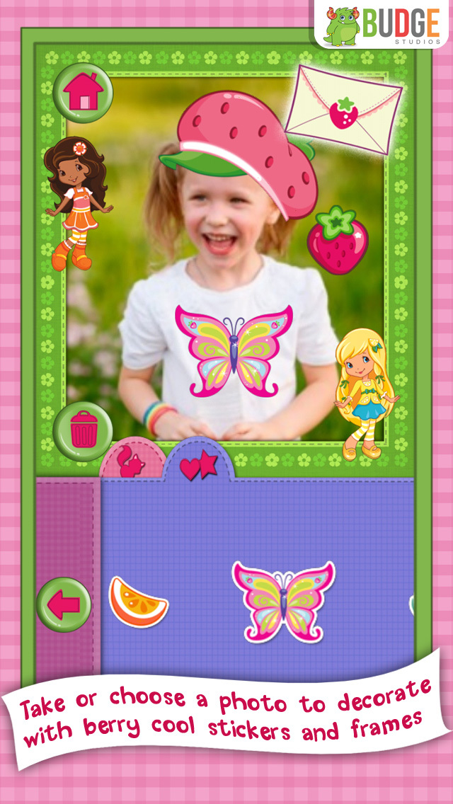 Strawberry Shortcake Card Maker Dress Up - Fashion Makeover Game for Kids screenshot 4