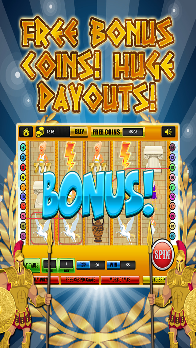 Ace Classic Slots Zeus Way - Age Of Titans Slot Machine Games Free screenshot 4