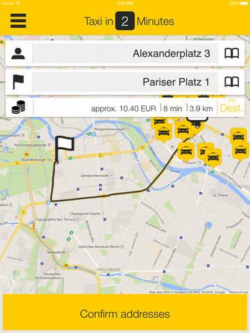 taxi.eu – Taxi App for Europe screenshot #2