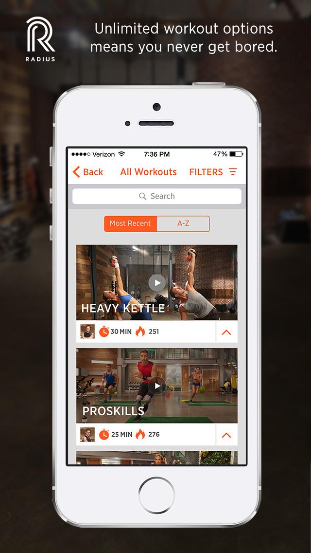 Radius Fitness screenshot 4