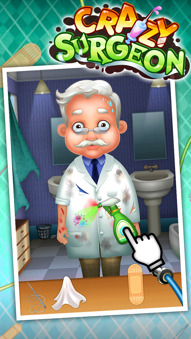 Crazy Surgeon - casual free kids games & doctor game screenshot 4