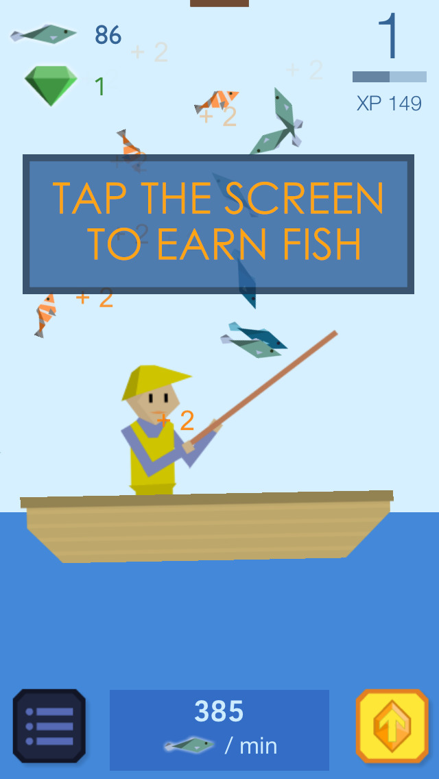 Fishy Clicker - Original Incremental Idle Game about Fishing screenshot 1