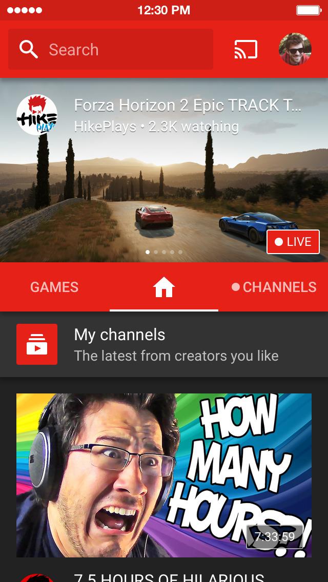 YouTube Gaming screenshot 1
