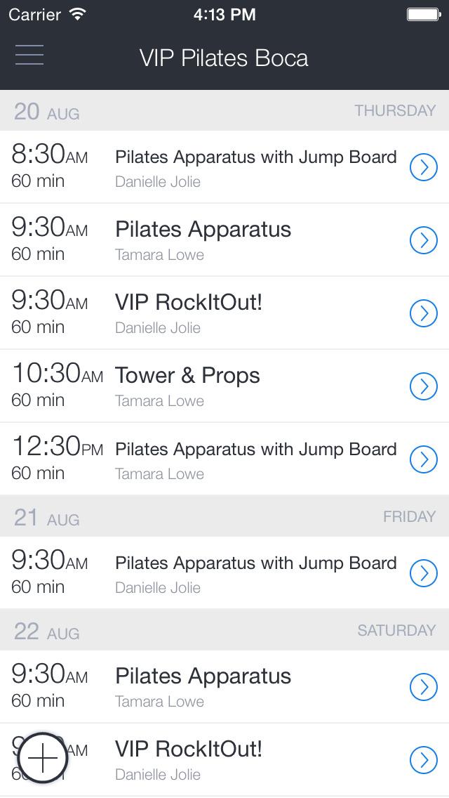 VIP Pilates screenshot 1
