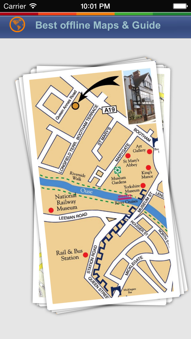 York Tour Guide: Best Offline Maps with Street View and Emergency Help Info screenshot 1