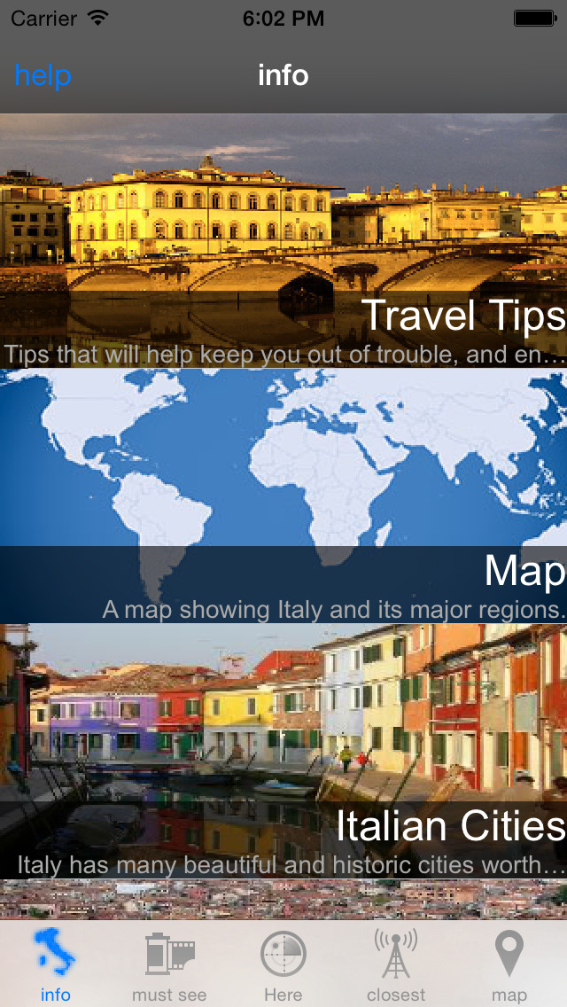 Italian Travel Guide - screenshot 2