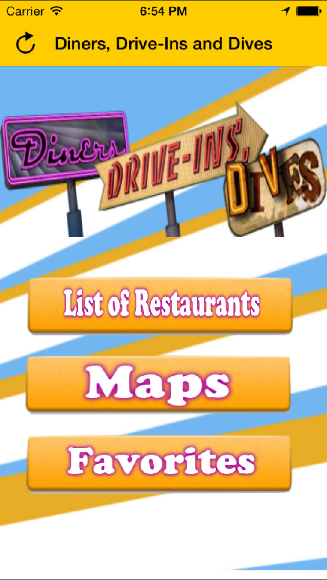 Diners & Dives TV - The Guide for Diners Drive-ins and Dives screenshot 1