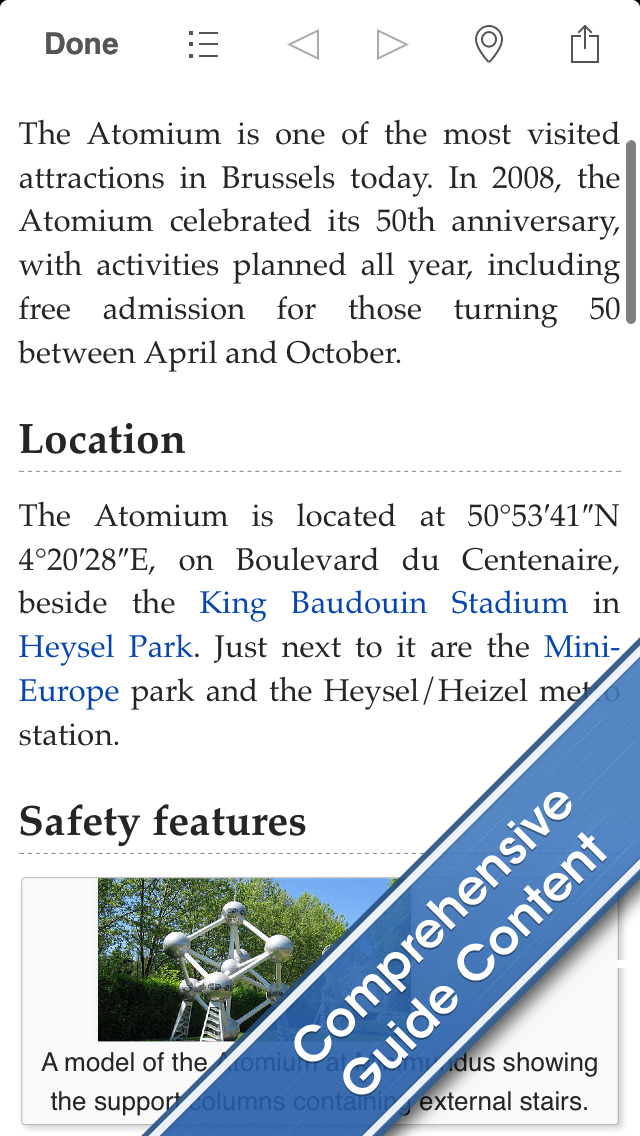 Brussels Travel Guide and Offline City Map screenshot 2