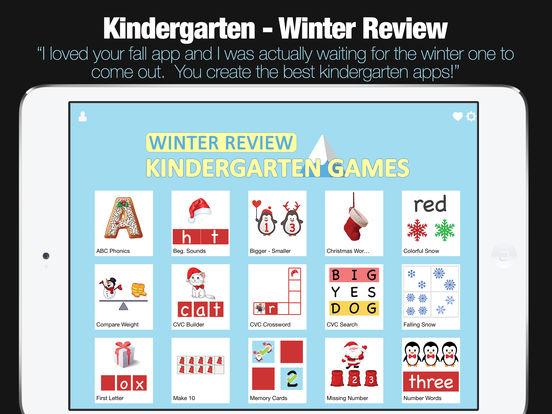 Kindergarten Learning Games - Winter Review App screenshot 6