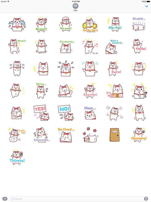 A White Cat Stickers screenshot 4
