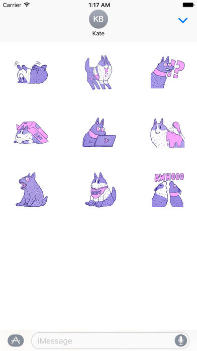 Violet Wolf Sticker screenshot 3