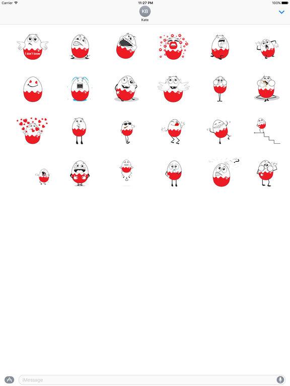 Animated Egg Emoji Stickers screenshot 3