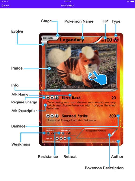 Card Maker Creator for Pokemon screenshot 7
