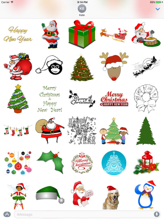 Fun Christmas Stickers + screenshot 3