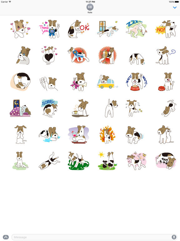 Cute Wire Fox Terrier Dog Stickers Pack screenshot 4