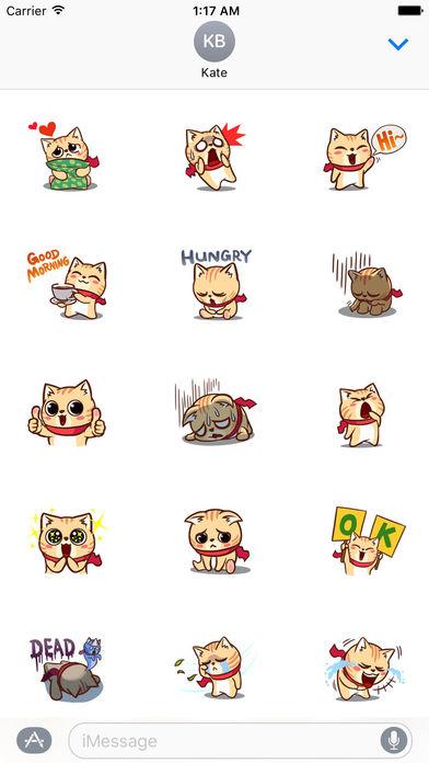 Many A Greedy Cat Stickers screenshot 2