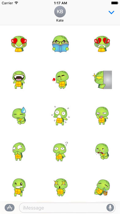 Lovely Turtle Stickers screenshot 1
