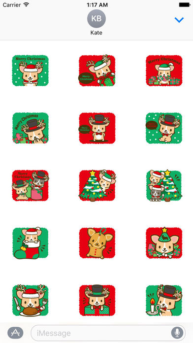 Merry Christmas Cute Corgi Dog Stickers screenshot 2