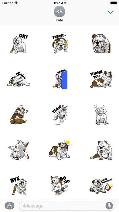 The English Bull Dog Stickers screenshot 2