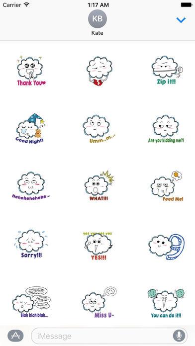 Funny Cloud Emoji Sticker screenshot 2