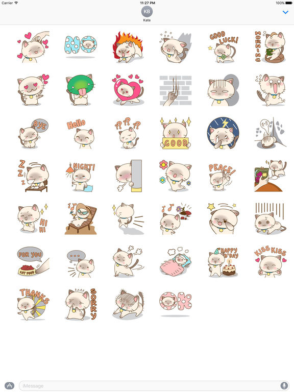 Lovely Cat Stickers Pack screenshot 4