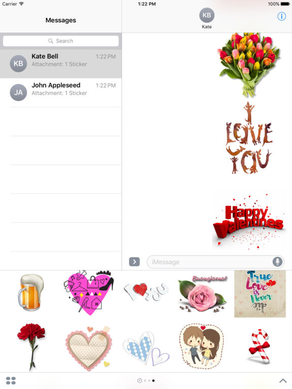 Love Sticker Pack HD Stickers for iMessage screenshot 6