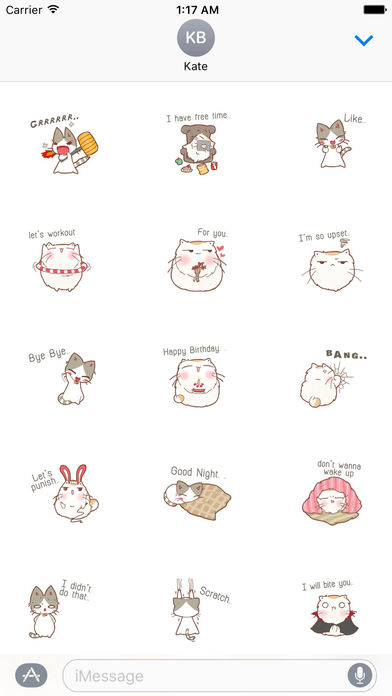 A Chubby Cat And A Thin Cat Stickers screenshot 2