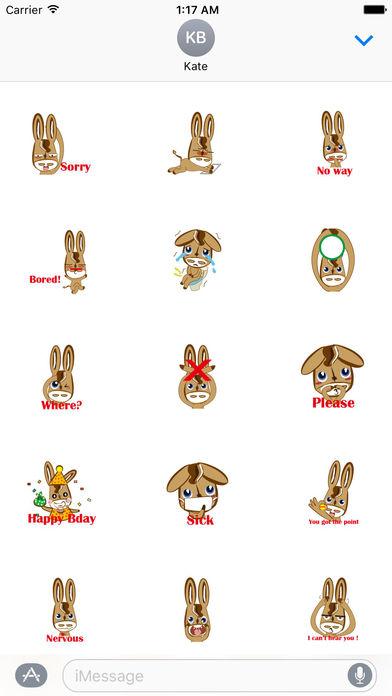 Cute Donkey Stickers screenshot 2
