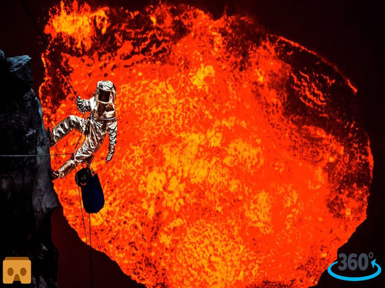 VR Inside Volcano Pro with Google Cardboard screenshot 3