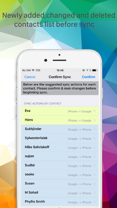 google contacts on iphone sync with contacts on the app 2937