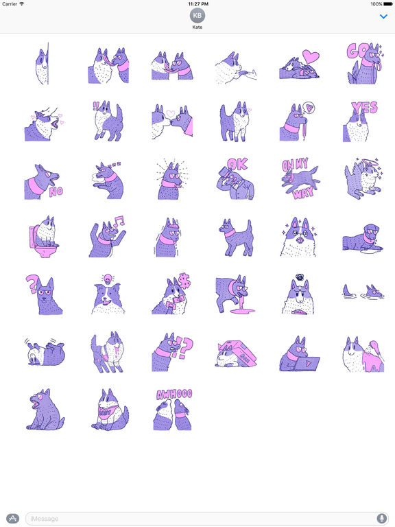 Violet Wolf Sticker screenshot 4