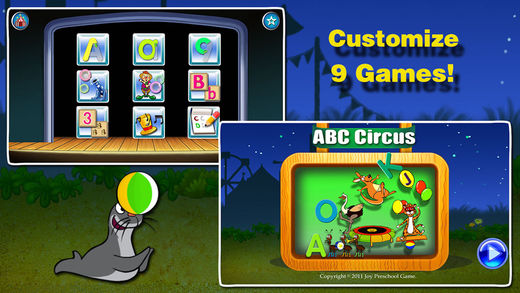 iphone games for toddlers abc circus alphabet amp number for on the app 5780