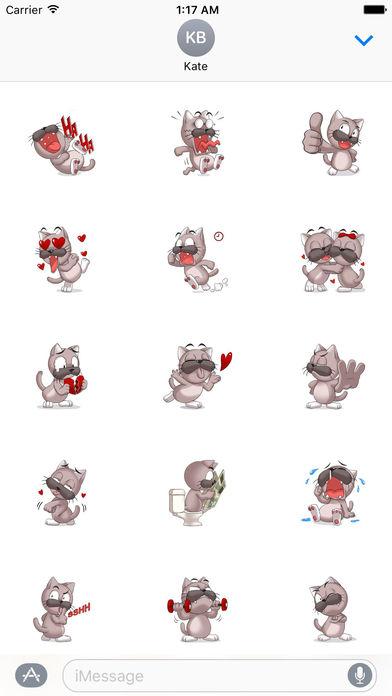 Lovesick Cat Stickers screenshot 1