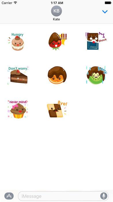 Chocolate Valentine Stickers Pack screenshot 3