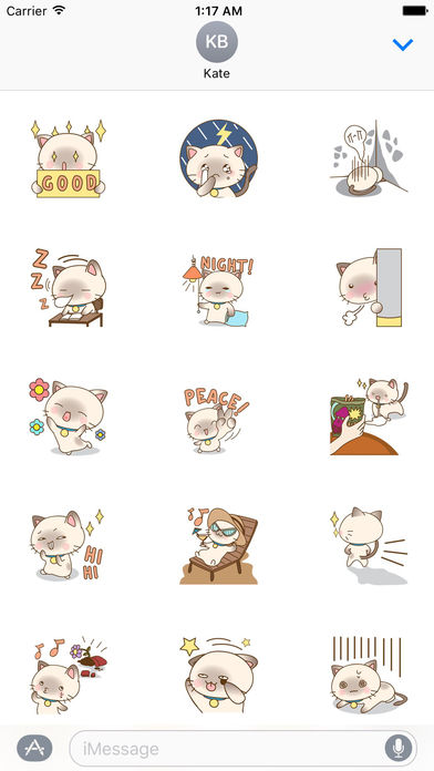 Lovely Cat Stickers Pack screenshot 2