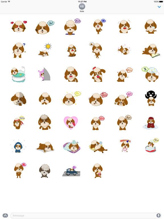Adorable Poodle Dog Sticker screenshot 4