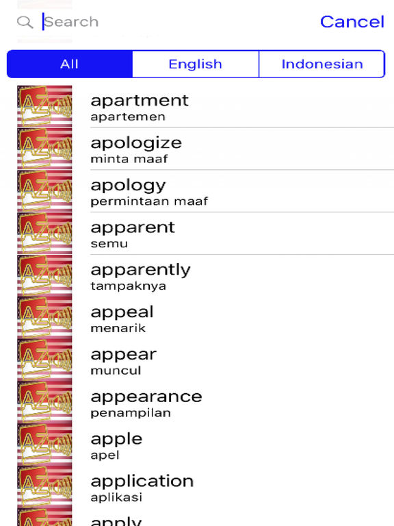 Indonesian Dictionary GoldEdition screenshot 9