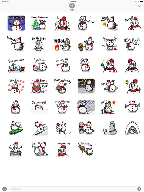Many Stickers Of A Funny Snowman screenshot 4