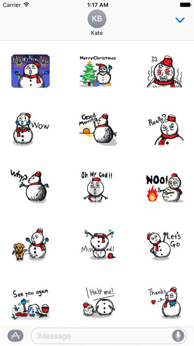 Many Stickers Of A Funny Snowman screenshot 1